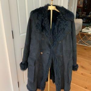 CalvinKlein lambskin shearling coat